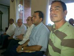 Religiosos participando de la celebración