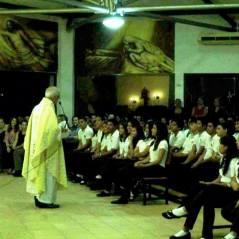 El Provincial exhortando a los alumnos