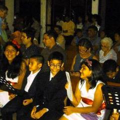 En la misa de acción de gracias (Managua)