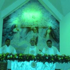 En el altar de Managua