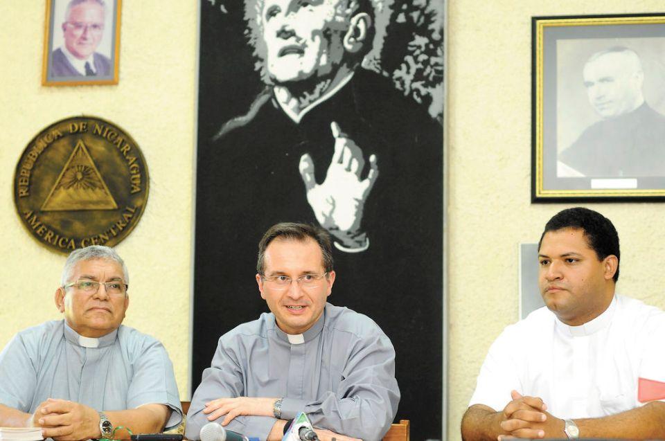 Conferencia sobre canonizacion del padre Bruno Martinez Escolapio (q.e.p.d). Managua 26 de enero de 2015. FOTO LA PRENSA/Lissa Villagra